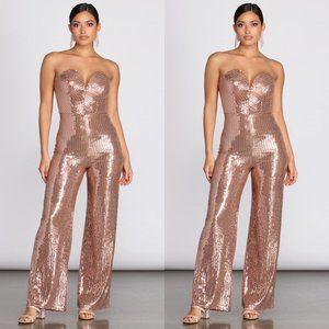Windsor Sweetheart in a Sequin Jumpsuit